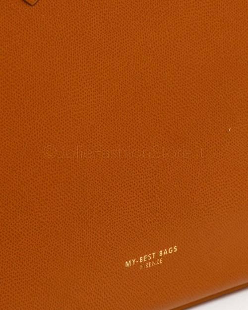 My Best Bag Borsa Shopping Cuoio  MYB8028 TABACCO