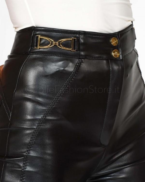 Pinko Giacca Doppio Petto con Cintura Nera 1G14AM-BLACK