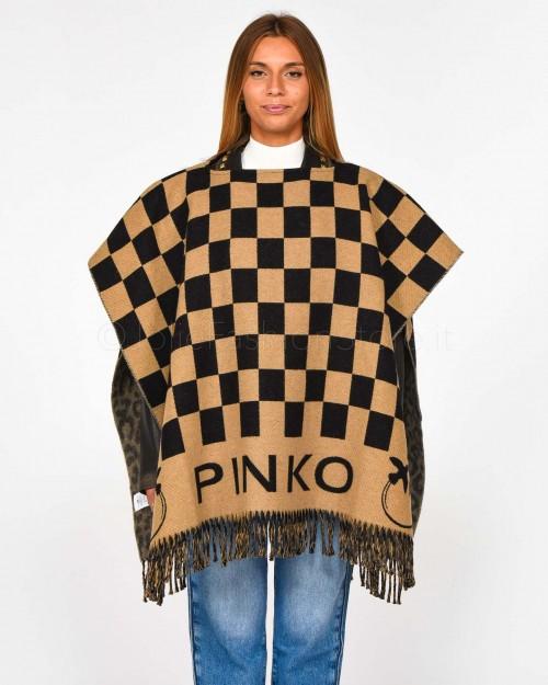 Pinko Stola Reversibile Cammello e Nero  1G204S-Y7FA-CZ3