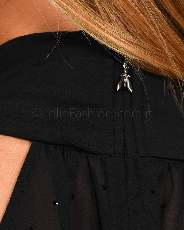 Elisabetta Franchi Cintura Bicolor Con Logo CT77S97E2-NERO/BURRO