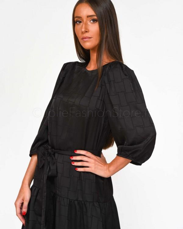 Elisabetta Franchi T-Shirt Con Logo Scollo a V MA13596E2-GESSO
