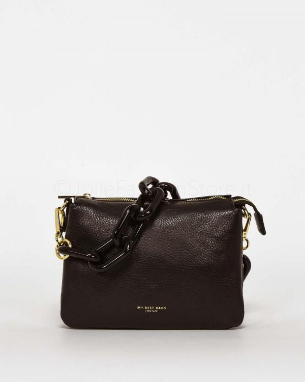 My Best Bags Borsa Pochette Mini con Catena Nera  MYB8020FW NERO