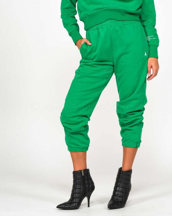 Patrizia Pepe Pantalone in Felpa Verde  1P2079/A01G/G533