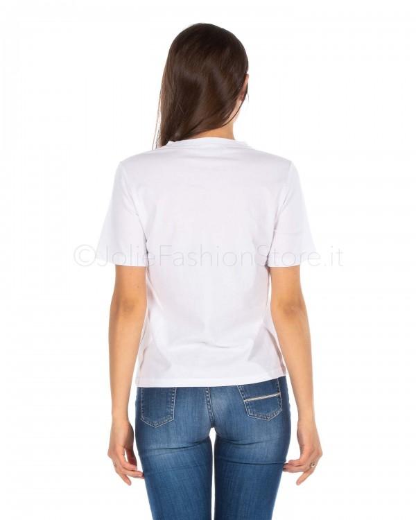 Jolie Crew T-Shirt Bianca con Stelle Rosse