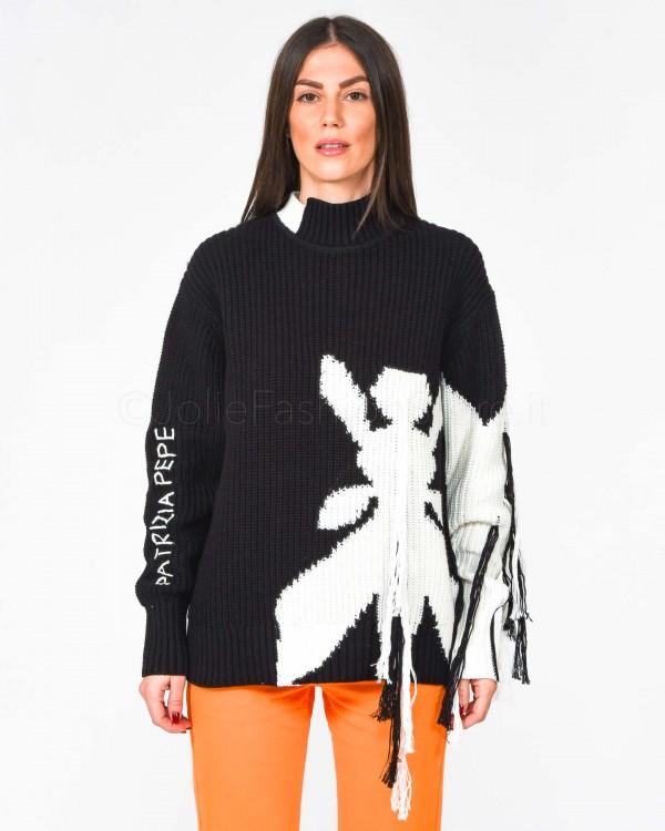 Patrizia Pepe Pantalone Sigaretta Bianco 1P2040-W146