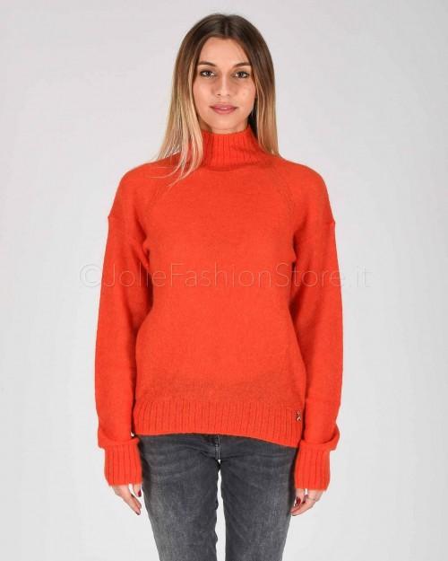 Patrizia Pepe Maglia in Lana Hibiscus Red  8M0908-R665