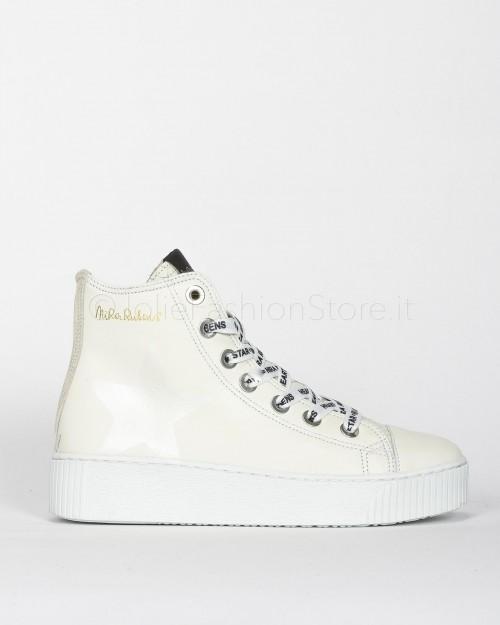 Nira Rubens Sneakers Alta in Pelle con Cuore e Stampa Python