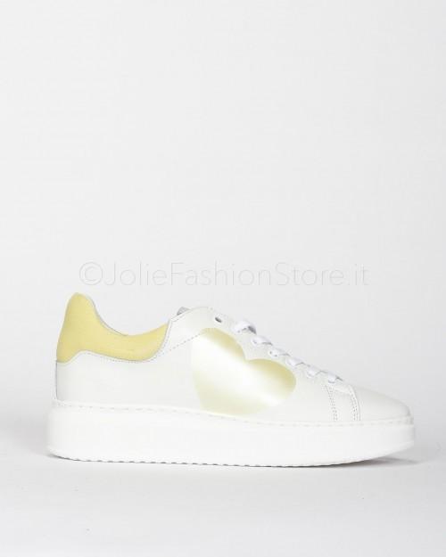 Nira Rubens Sneakers in Pelle con Cuore Giallo