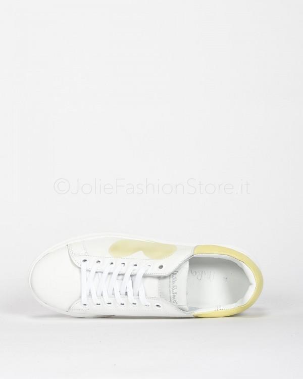 Up Jeans Bianco Con Strappi e Sfrangiato 0095T14