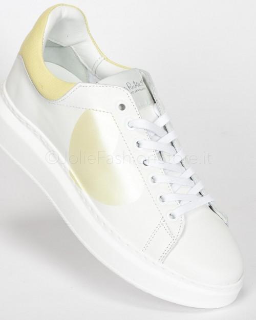 Up Jeans Bianco Con Strappi e Sfrangiato