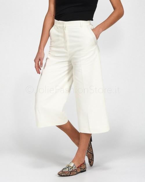 Pinko Pantalone Culotte Bianco