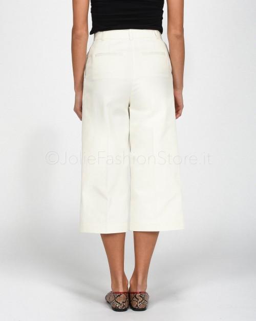 Pinko Pantalone Culotte Bianco  1G14SQ-Z05
