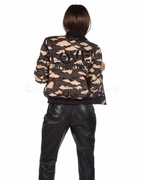 Love Moschino Bomber Stampa Camouflage