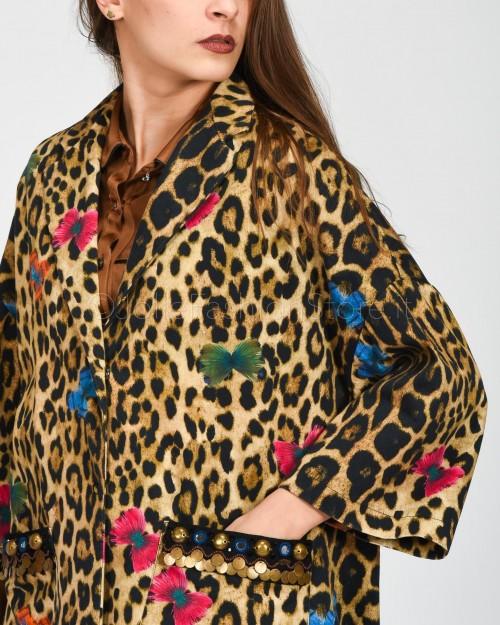 Alessandra Chamonix Caban in Fantasia Leopardata con Farfalle  WGERALEO