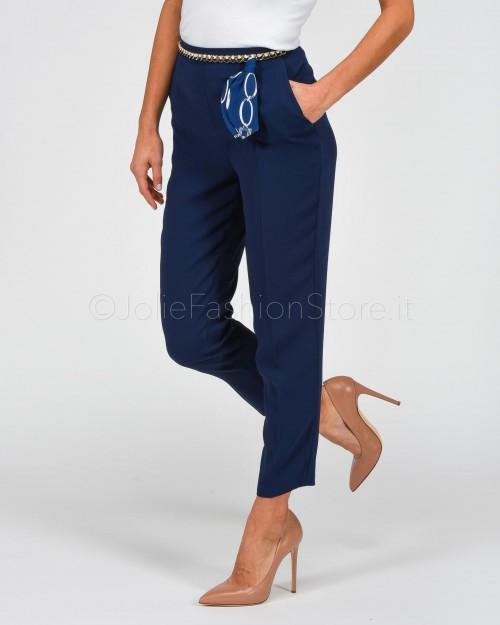 Elisabetta Franchi Pantaloni con Catena Blu