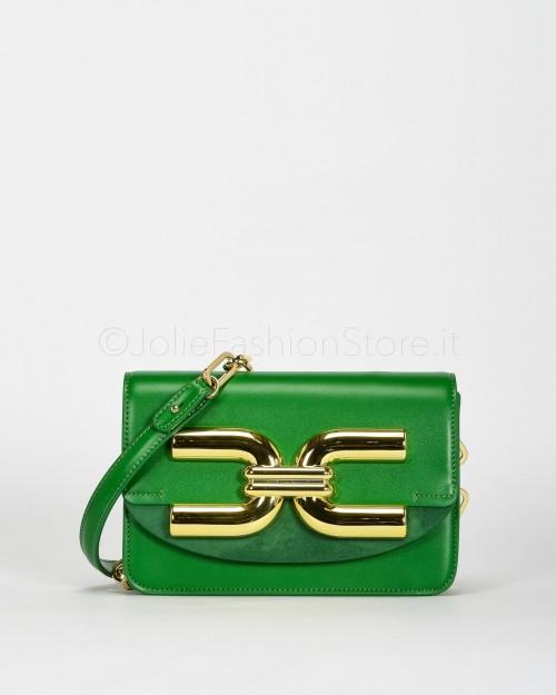 Elisabetta Franchi Tracolla con Maxi Logo Verde