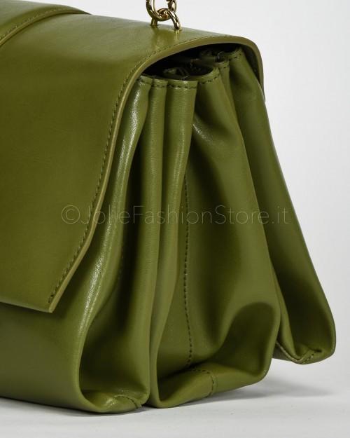 Patrizia Pepe Borsa Maxi con Tracolla in Pelle Verde  2V9312-G479