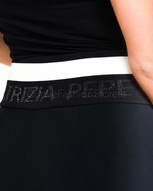 Patrizia Pepe Leggings Nero con Logo  2P1250-K103