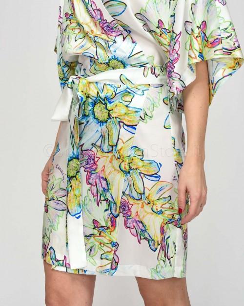 Patrizia Pepe Abito in Fantasia Floreale a Kimono  2A2045-XT96