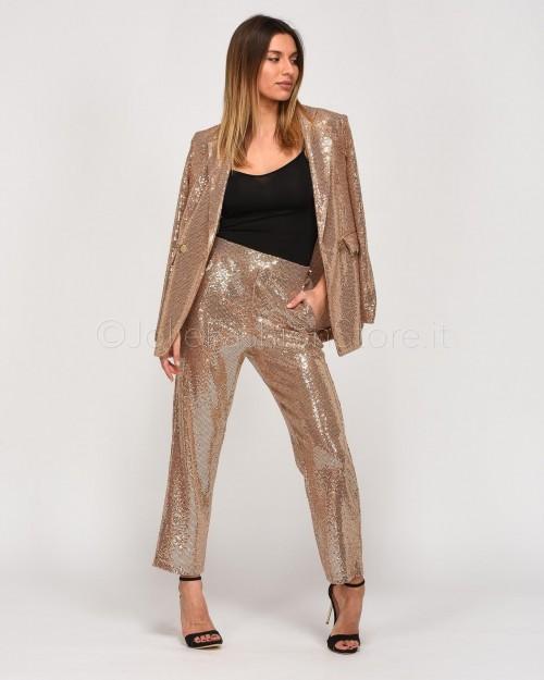 Dixie Pantalone Beige in Paillettes  PBUHNAH-1170