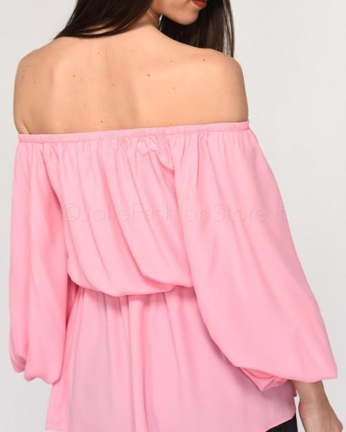 Pinko Camicia Spalla Scesa Rosa  1B14MD-P44