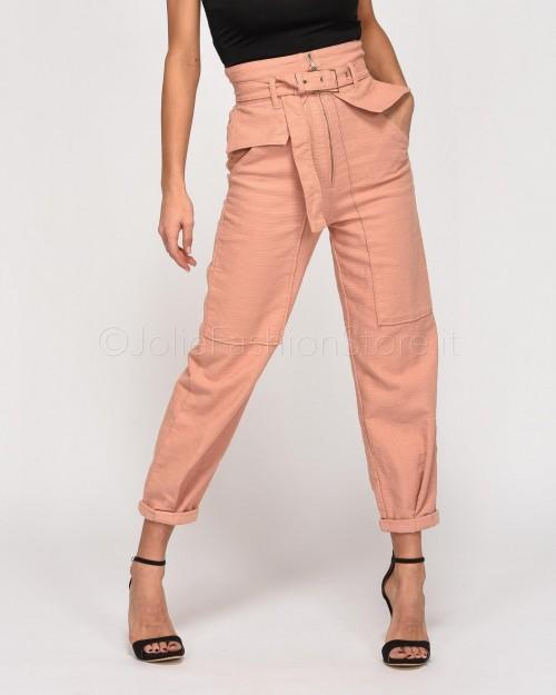 Patrizia Pepe Pantalone Rosa con Cintura
