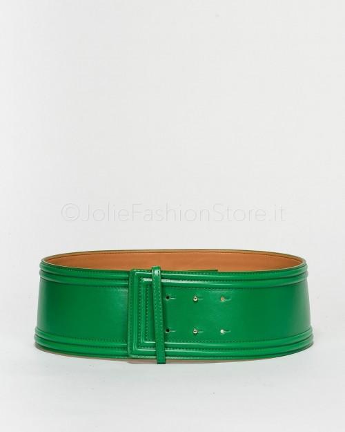 Elisabetta Franchi Cintura Vita Alta Verde