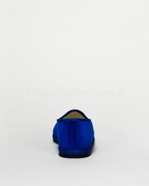 Fratta Mocassino in Velluto Bluette  000205-BLU