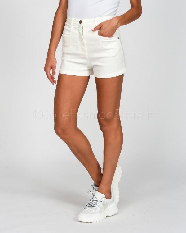 Patrizia Pepe Shorts in Jeans Bianco  2J2310-W146