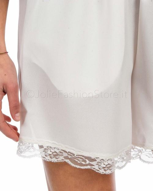 Empathie Shorts Bianco con Inserti in Pizzo  18062_BIANCO