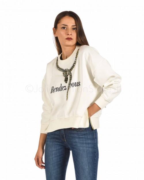 Sweet Matilda Felpa Rendez Vous Bianca  29SMB15-BIANCO