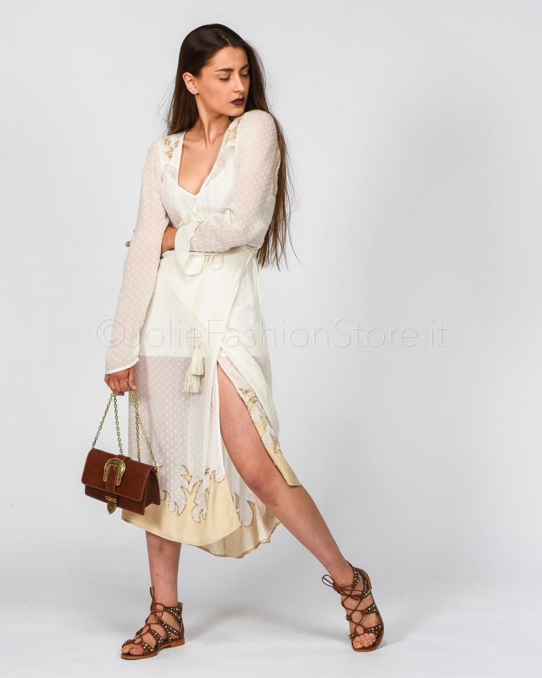 Gina Gorgeous Abito in Tulle Nero con Pizzo Bianco b6f1c3d4246