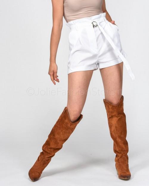 Patrizia Pepe Shorts Bianco in Popeline
