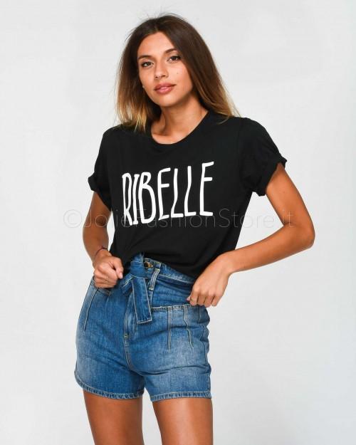 Jolie Crew T-Shirt Ribelle Nero