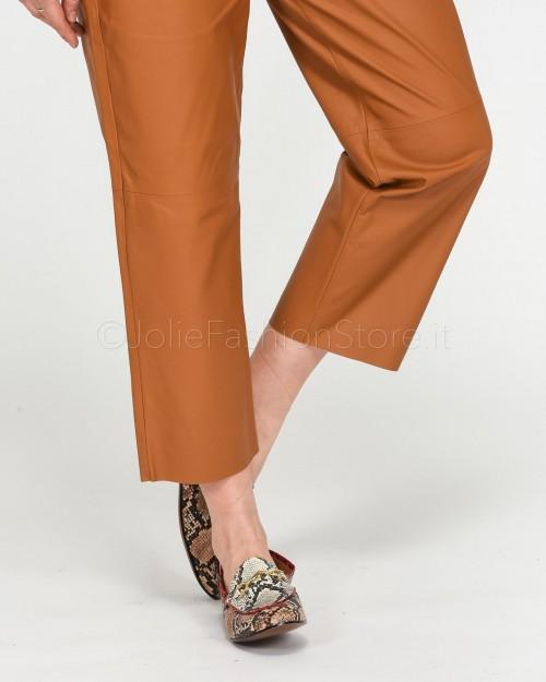 Pinko Pantalone in Pelle Ultralight Marrone  1G14P2-M19