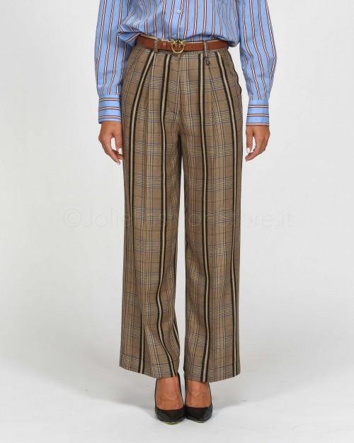 Dixie Pantalone Maschile Scozzese Nero e Beige  PCB90BC-2928