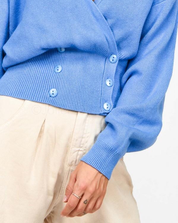 Elisabetta Franchi Borsa Pochette a Busta Color Cuoio con Maxi Logo Profilo Azzurro